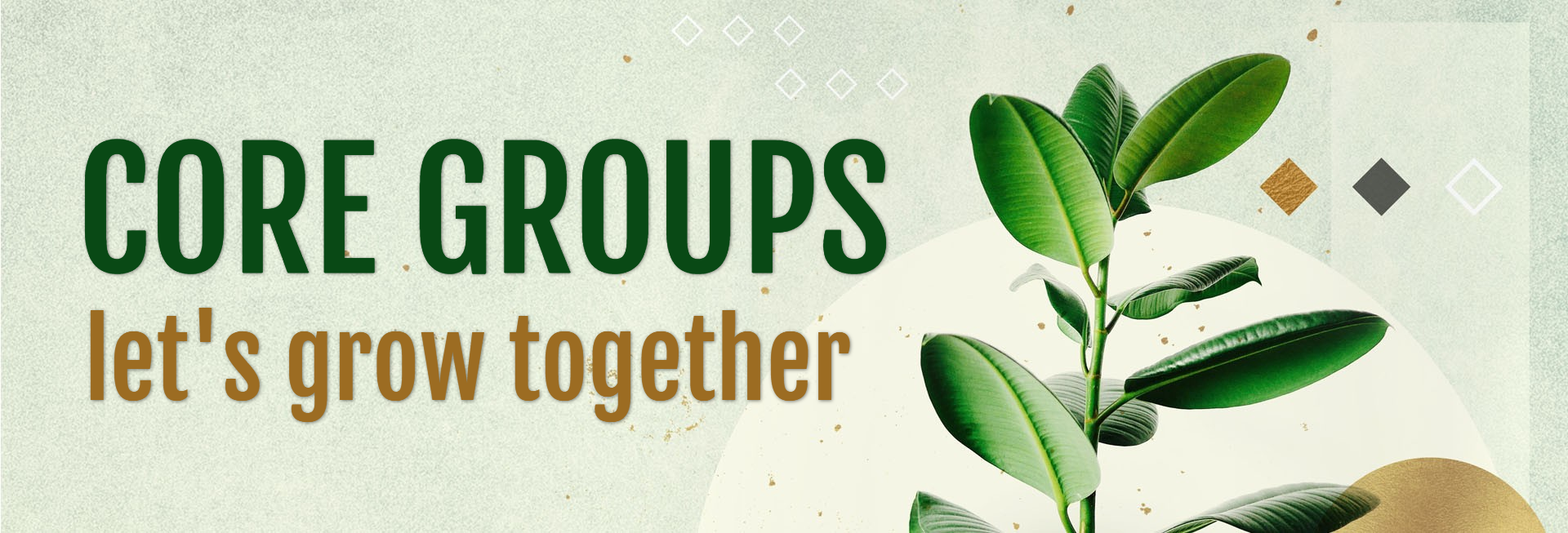 Let's Grow Together Church Website Banner
